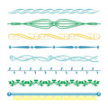 Borders monograms Line set in vintage style for design vector