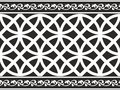 Bordo floreale gotico in bianco e nero senza giunte Fotografia Stock Libera da Diritti