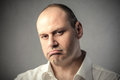 Bored face portrait of man with expression Royalty Free Stock Photos