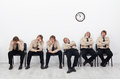 Bored people waiting Royalty Free Stock Photo