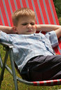 Bored young boy Royalty Free Stock Image