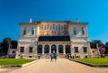 The borghese gallery in rome italy villa on a beautiful sunny day with tourists visiting Stock Photo