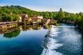 Borghetto,明乔河畔瓦莱焦,意大利 库存图片