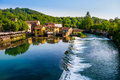Borghetto valeggio sul mincio italy panoramic view of Stock Image