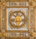 Borgia coat of arms in the ceiling of the Basilica of Santa Maria Maggiore in Rome, Italy