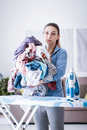 Boring household chores Royalty Free Stock Photo