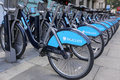 Boris bikes Royalty Free Stock Image