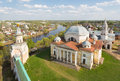 Boris and glebs cathedral in torzhok borisoglebsky monastery the tver region Stock Photography