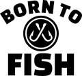 Born to fish with crossed hooks
