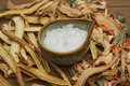 Borneo camphor used for herbal medicine Stock Photo