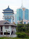 Borneo. Old & New Buildings Royalty Free Stock Photo