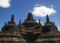 Borobodur - temple bouddhiste Photographie stock
