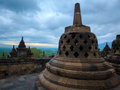 Borobudur buddist temple yogyakarta java indonesia old Stock Images