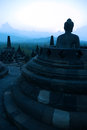 Borobudur at Dusk, Java, Indonesia Stock Image