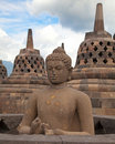 Borobudur temple in Indonesia Royalty Free Stock Photo