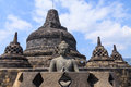 Borobudur temple indonesia lord of buddha the landmark of Royalty Free Stock Photos