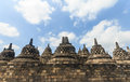 Borobudur temple indonesia the world heritage in Royalty Free Stock Photos