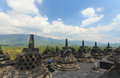 Borobudur temple indonesia the world heritage in Stock Photos
