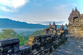 Borobudur temple mountain views from Royalty Free Stock Image