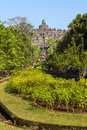 Borobudur temple park, Java, Indonesia Stock Photos