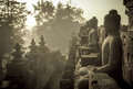 Borobudur temple at sunrise, Java, Indonesia Stock Photo