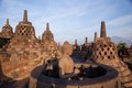 Borobudur temple at sunrise yogyakarta indonesia Stock Photo