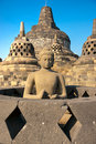 Borobudur Temple, Yogyakarta, Java, Indonesia. Royalty Free Stock Photo