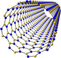 Boron nitride nanotube on white Stock Image
