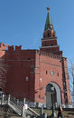Borovitskaya tower moscow kremlin of russia Royalty Free Stock Photos