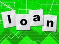 Borrow loans means borrows credit and borrowing representing fund lend Stock Photos