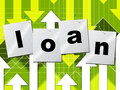 Borrow loans means funding borrows and borrowing loan representing advance lend Royalty Free Stock Photo