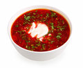 Borsch d'isolement sur le blanc Images stock