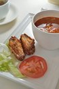 Borsch Fried Chicken Wing Royalty Free Stock Photo