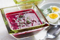 Borscht with beet and Royalty Free Stock Photo