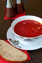 Borscht And Bread Stock Photo