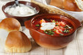 Borscht closeup Royalty Free Stock Photo
