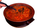Borscht national russian and ukrainian soup Royalty Free Stock Images