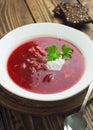 Borsh. Russian Traditional Dish