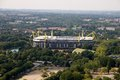 Borusseum stadium aerial view from the television tower on the borussia dortmund Royalty Free Stock Photography