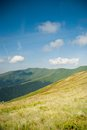 Borzhava carpathian mountains ukraine summer mountain view to Stock Photo