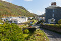 Boscastle coastal town North Cornwall England UK Royalty Free Stock Photo