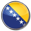 Bosnia herzegovina button and stars of Royalty Free Stock Image
