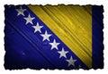 Bosnia and Herzegovina flag Royalty Free Stock Photo