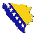 Bosnia map flag Stock Images