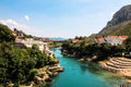 Bosnia mostar view on the river Stock Photos