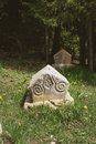 Bosnian tombstones medieval stecaks or stecci Stock Images