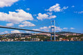 Bosphorus bridge in Istanbul Turkey Stock Image