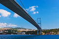 Bosphorus bridge in istanbul turkey connecting asia and europe Stock Photos