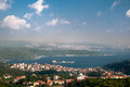 Bosphorus istanbul horizontal view of turkey Stock Image