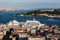 Bosphorus istanbul a transatlantic the topkapi palace the historical buildings the golden horn and the turkey Stock Photo